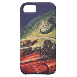 Vintage Science Fiction Flying to the Lunar Cuty iPhone 5 Cases