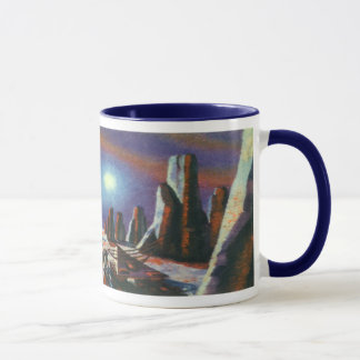 Vintage Science Fiction Foreign Planet with Aliens Mug