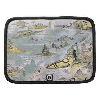 Vintage Science Fiction Futuristic Cars, Taxi Cabs Folio Planners