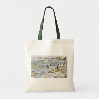 Vintage Science Fiction Futuristic Cars, Taxi Cabs Tote Bag
