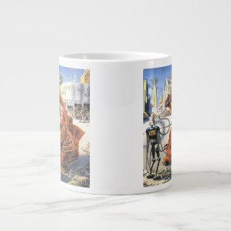 Vintage Science Fiction Futuristic City Alien Wars Giant Coffee Mug