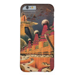 Vintage Science Fiction Futuristic City Flying Car iPhone 6 Case