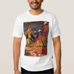 Vintage Science Fiction Futuristic City Flying Car Tee Shirt
