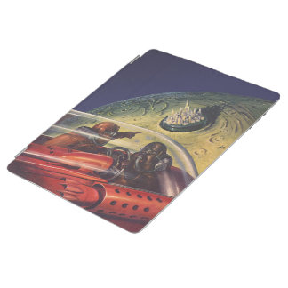 Vintage Science Fiction, Futuristic City on Moon iPad Smart Cover