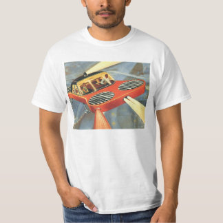Vintage Science Fiction Futuristic Flying Car T-Shirt