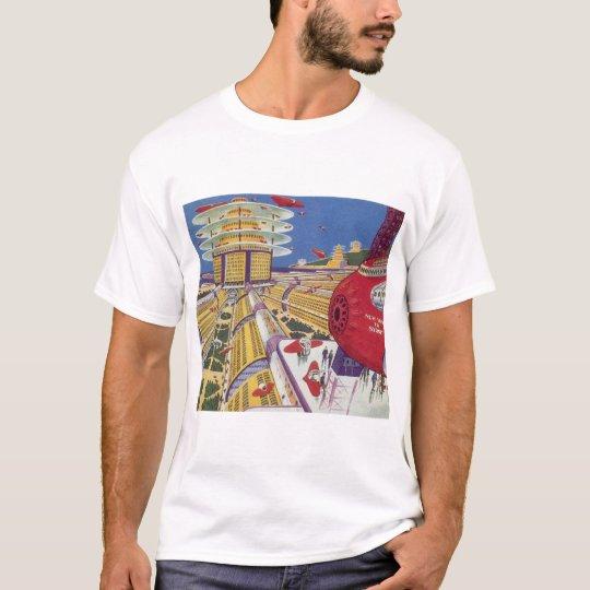 Vintage Science Fiction, Futuristic New York City T-Shirt
