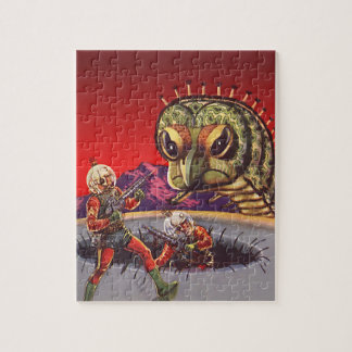 Vintage Science Fiction Giant Centipede Insect War Jigsaw Puzzle