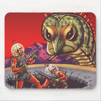 Vintage Science Fiction Giant Centipede Insect War Mouse Pad