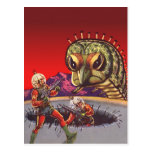 Vintage Science Fiction Giant Centipede Insect War Post Card