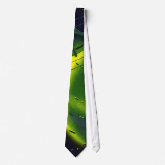 Vintage Science Fiction Green Planet w Spaceship Tie