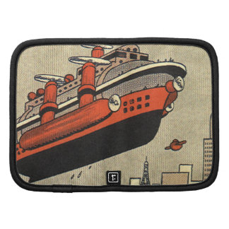 Vintage Science Fiction Helicopter Cruise Ship Planner