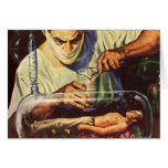Vintage Science Fiction, Laboratory Mad Scientist Card