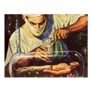 Vintage Science Fiction, Laboratory Mad Scientist Postcard