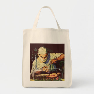 Vintage Science Fiction, Laboratory Mad Scientist Tote Bag