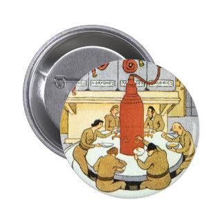 Vintage Science Fiction, Labratory Scientists Eat Button