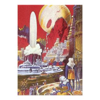 Vintage Science Fiction Lost City of Atlantis Invitations
