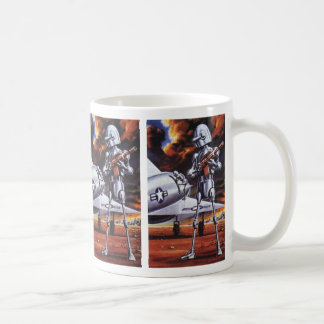 Vintage Science Fiction Military Robot Soldiers Coffee Mug