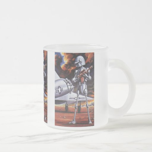 Vintage Science Fiction; Military Robot Soldiers Mug