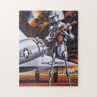 Vintage Science Fiction Military Robot Soldiers Puzzles