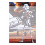Vintage Science Fiction; Military Robot Soldiers Stationery