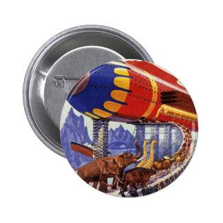 Vintage Science Fiction Noah's Ark Wild Animals 2 Inch Round Button
