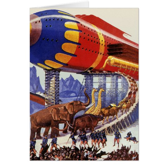 Vintage Science Fiction, Noah's Ark Wild Animals Card