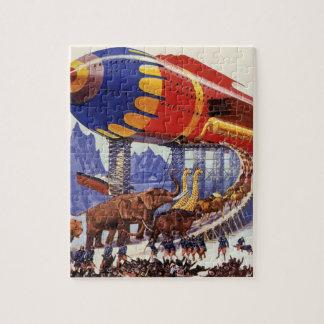 Vintage Science Fiction, Noah's Ark Wild Animals Jigsaw Puzzle