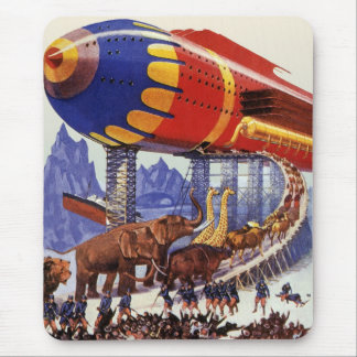 Vintage Science Fiction, Noah's Ark Wild Animals Mouse Pad
