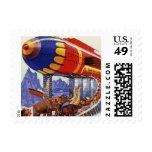 Vintage Science Fiction, Noah's Ark Wild Animals Postage Stamp