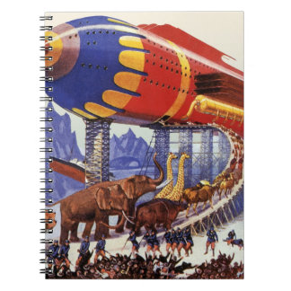 Vintage Science Fiction, Noah's Ark Wild Animals Spiral Notebook