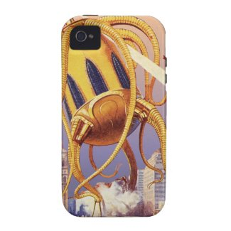 Vintage Science Fiction Octopus Alien Invasion War iPhone 4/4S Covers