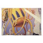 Vintage Science Fiction Octopus Alien Invasion War Placemats