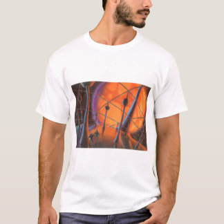 Vintage Science Fiction, Orange Sun and Aliens T-Shirt