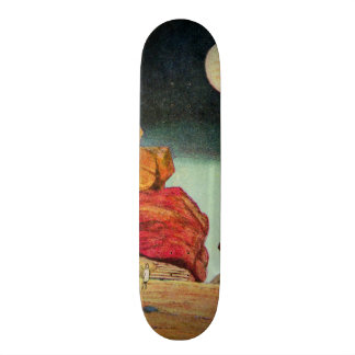 Vintage Science Fiction Quarry Planet Travelers Skateboard Deck