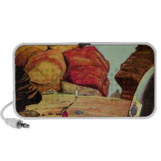 Vintage Science Fiction Quarry Planet Travelers iPod Speaker