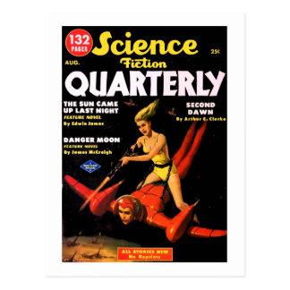 Vintage Science Fiction Quarterly Space Travel Postcard