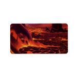 Vintage Science Fiction Red Lava Volcano Planet Address Label