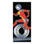 Vintage Science Fiction Robot, Machine Man Running Rack Card