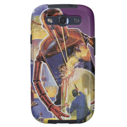 Vintage Science Fiction Robot with Laser Beam Eyes Samsung Galaxy SIII Case