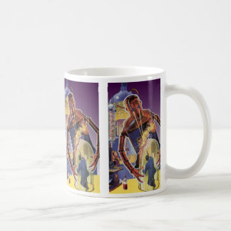 Vintage Science Fiction Robot with Laser Beam Eyes Coffee Mug