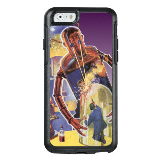 Vintage Science Fiction Robot with Laser Beam Eyes OtterBox iPhone 6/6s Case