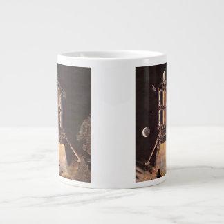 Vintage Science Fiction Rocket Blasting Off Planet Giant Coffee Mug