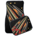 Vintage Science Fiction Rocket Ship by Space Stars Car Mat