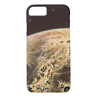 Vintage Science Fiction, Rocket Ship Over the Moon iPhone 8/7 Case