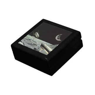 Vintage Science Fiction, Rocket Ships Moon Planets Gift Box