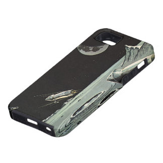 Vintage Science Fiction Rocket Ships Moon Space iPhone 5 Cover