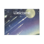 Vintage Science Fiction Rockets in Space by Planet Doormat