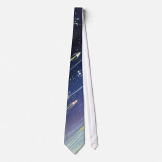 Vintage Science Fiction Rockets in Space by Planet Tie