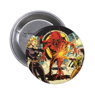 Vintage Science Fiction, Sci Fi Alien Attacking Button