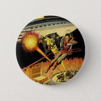 Vintage Science Fiction, Sci Fi Aliens from UFO Button